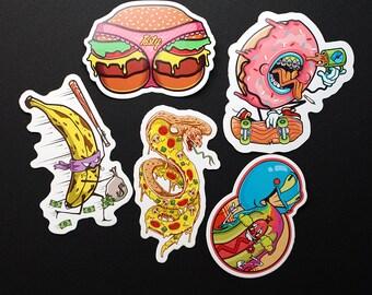 Sticker Pack, 5 Stickers