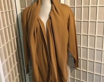 1980s Bergdorf Goodman Long Wool Cardigan by Pomodoro HUGE SALE