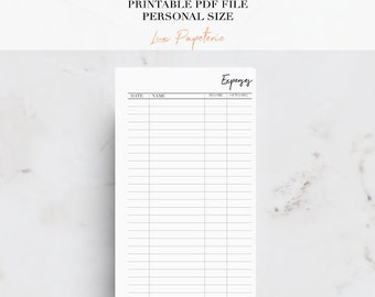 Expenses Planner Inserts, Personal Planner Inserts, Printable Planner, Expenses Tracker, Budget Planner Inserts, Personal Inserts