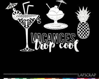 Cuts scrapbookinfg scrap holiday ice glass pineapple cutout paper die cut embellishment cocktail umbrella
