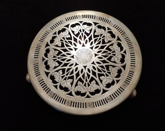 Arts and Craft Silver Plate Trivet.