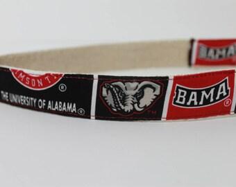 University of Alabama hemp dog collar or leash