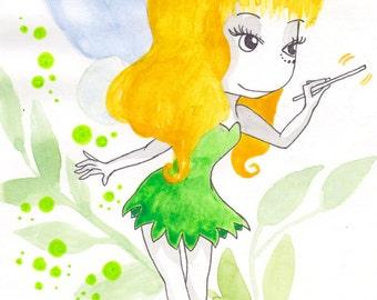 Ana Dess in Fairy Clochette - Drawing