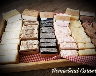 Set of 5 Assorted ~  Handmade Soap ~  3oz - 5oz  Bars ~ You choose Your Soaps ~ All Natural ~ No Artificial Ingrediants