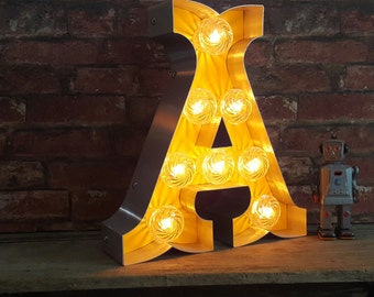 Marquee light up letters 'CIRCUS FONT'