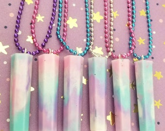 Cotton Candy Crystals Pendants