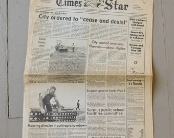 Vintage Alameda Times Star Newspapers 1976 and 1978