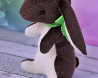 Vintage inspired Velveteen Rabbit - Chocolate Brown
