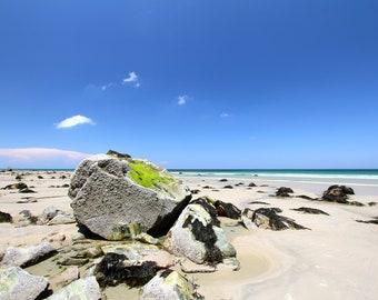Beach Art Print, Nature Photography Landscape Blue Coastal Wall Art Wall Decor Coastal Decor Ocean Beach Decor