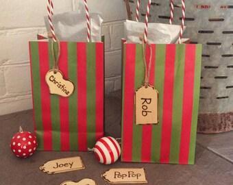 Holiday tags, Christmas gift tags, birthday gift tags , stocking tags, name tags