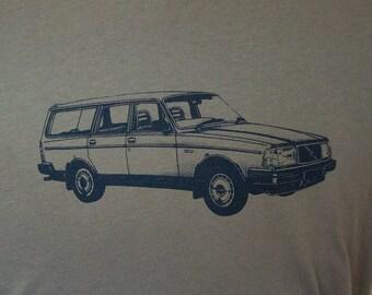 Volvo 240 Wagon Tee Shirt Slate