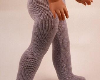 Sparkle knitted pantyhoses for American Girl / Götz / Wichtel  / Paola Reina  / Minouche  / Zwergnase / My Twinn dolls