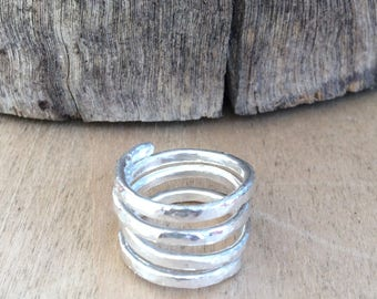 New Beginnings - Wraparound Sterling Silver Ring