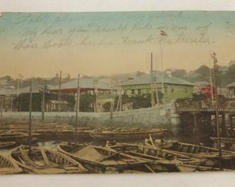 Antique Post Card Yokohama Japan  1912