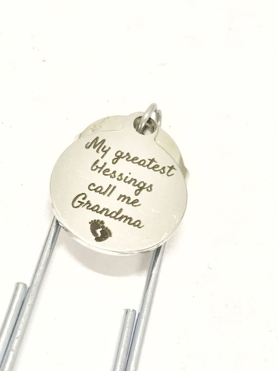 Grandma Gifts, Grandma Bookmark, My Greatest Blessings Call Me Grandma Bookmark, Grandmother Gifts, Reader Gifts For Grandma, Bible Marker