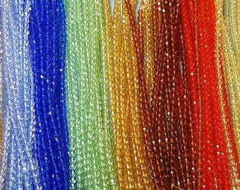 4mm Fire Polished Czech Round Beads