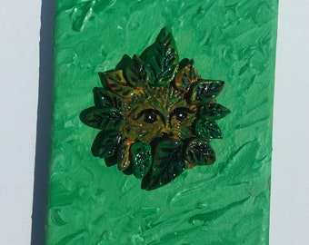 Green Man on Canvass