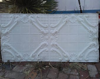 """Large, Antique Ceiling Panel 24"""" x 48"""" Architectural Salvage"""