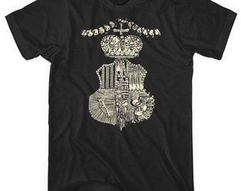 Heritage T-shirt - Men and Unisex - Skull Tee - XS S M L XL 2x 3x 4x - 4 Colors