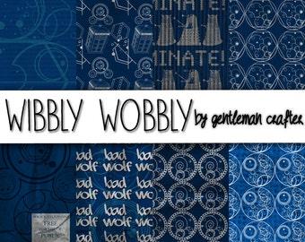 Wibbly Wobbly Digital Scrapbook Paper