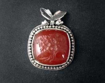 Red Oak - Carnelian Gem Intaglio of a Tree