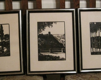Reduced Again! Silhouettes, CUT OUT Silhouettes, Vintage Silhouettes, Scenery Silhouettes, Man Cave Art