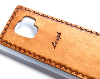 Custom Personalized iPhone 7 Plus Case Leather w/ Inspirational Words