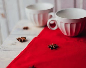 Red linen napkins, valentines day, red holiday napkins, napkins cloth, linen napkins, dinner napkins, red napkins, red holiday napkins