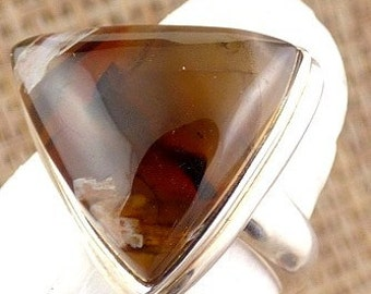 AGATE tubular ring jewelry pendant natural chakra esotericism protection healing minerals JA55.1 care