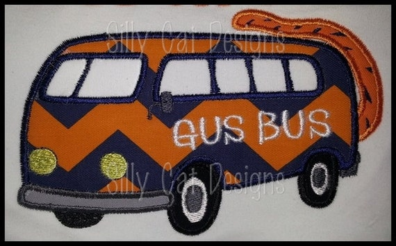 Gus Bus with Tail Applique Design