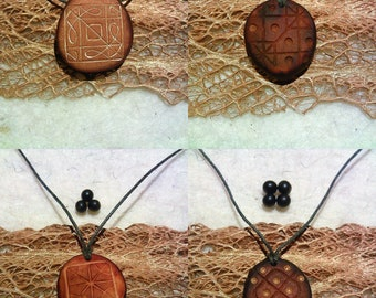 Chladni plates design / Avocado stone necklace , avocado pit pendant , seed carving / natural jewelry , handcraft