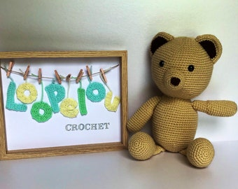 Hand crocheted Soft and cuddly bear