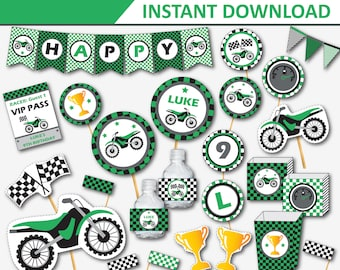 Dirt Bike Birthday - Motocross Party - Motorcycle Party - Dirtbike Birthday - Dirt Bike Decor - Motocross Decor (Instant Download)