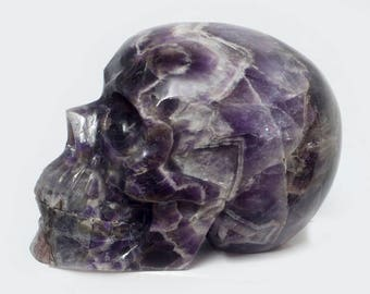 Crystal Skull Chevron Amethyst, approx. 1200 grams! TOP!