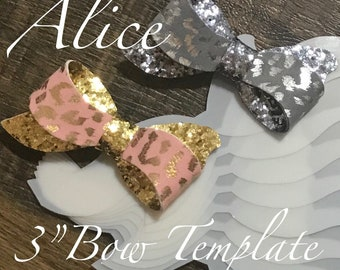 """Alice 3"""" - 7.5cm Bow Template 