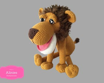Lion crochet pattern amigurumi pdf tutorail in Dutch, Deutsch and English US-terms