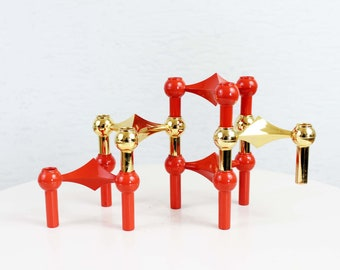Nagel set of 5 candlesticks/candle holders