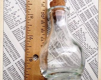 large glass bottle with cork | glass jar | glass vial | terrarium | portland oregon  |   1 piece  |  size F