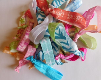 Hair Ties Party Favors - 5 Hair Ties - Variety Pack of Hair Accessories - Party Gifts - Hair Ties - Stocking Stuffer - Birthday Party Gifts