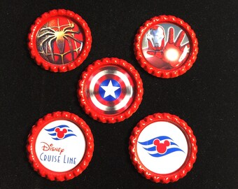 Set of 5 Fish Extender Gifts-FE gift-FE Magnets-Disney FE gifts-Disney Cruise Magnets-Marvel Magnets- Marvel at Sea
