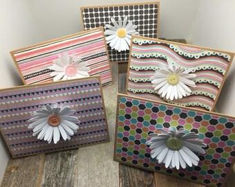 Spring Flower Cards, Flower Cards, Colorful Flower Cards, Colorful Flower Cards, Blank Flower Cards, Set of Five Cards, Set of 5 Cards