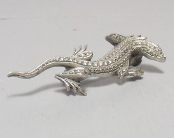 Vintage Marcasite Lizard Brooch by Facetta/Marcasite Brooch/Marcasite Jewellery/Christmas Gift for Her/Lizard Jewellery/Lizard Gift