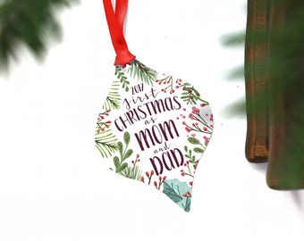 First Christmas As Mom And Dad Ornament - New Parents Ornament - New Mommy And Daddy Gift - First Baby Keepsake - First Baby Christmas Gifts