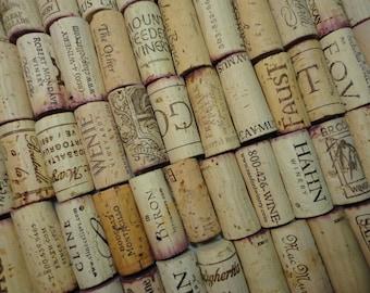101 counted  Original Red & White  Wine Corks. Great for Art Hand Craft + Bonus