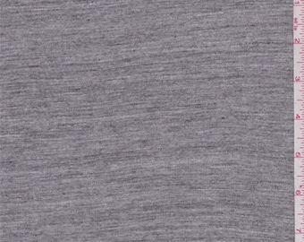 Heather Granite T Shirt Knit, Fabric By The Yard