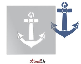"""Ship Anchor  Craft and Wall Stencil - Reusable Mylar - Sizes 2"""" to  21"""""""