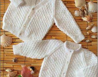 baby cardigans knitting pattern childs cardigans v neck round neck newborn DK 16-24 inch baby knitting pattern pdf instant download