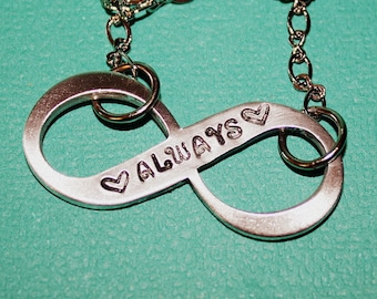 Infinity Always Necklace - Hand Stamped