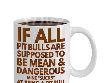 Unique pit bull mug