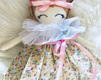Deppa Doll, Handmade doll, Fabric doll, Soft doll, Nursery, Girl Gift